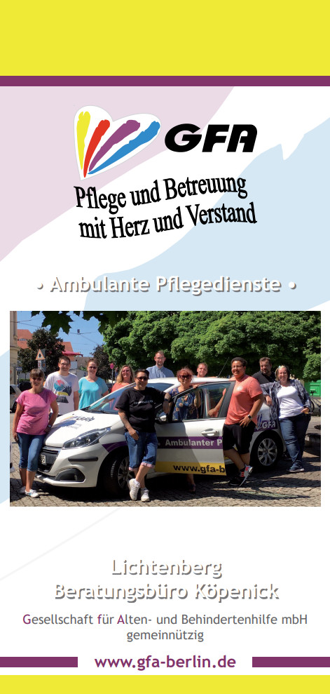 Ambulanter Pflegedienst Lichtenberg - Flyer im PDF-Format